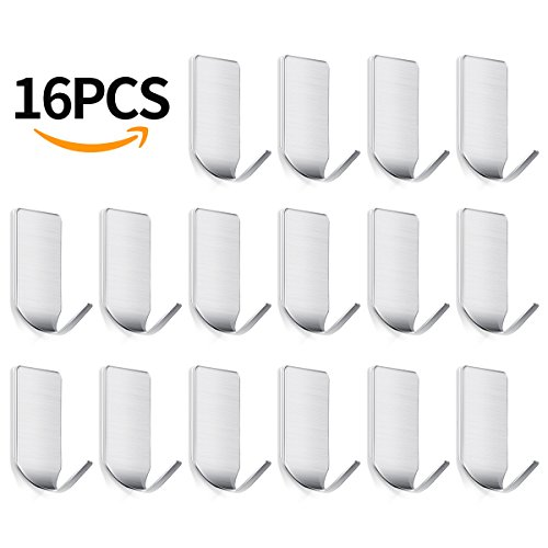 Sticky Wall Hangers Self Adhesive Hooks 16 PCS