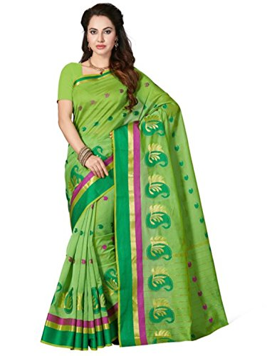 Mangalagiri Ishin Green Design Blend Cotton Woven Saree xA8XHq