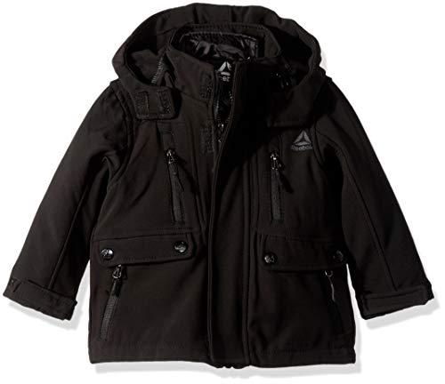 Reebok Boys' Big' Active Systems Jacket with Zip Pockets, Black, - Jacket Boys System
