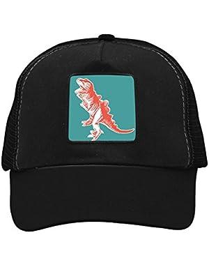 Unisex Orange Dinosaur Adjustable Classic Hiphop Hat Baseball Cap Snapback Dad Hat