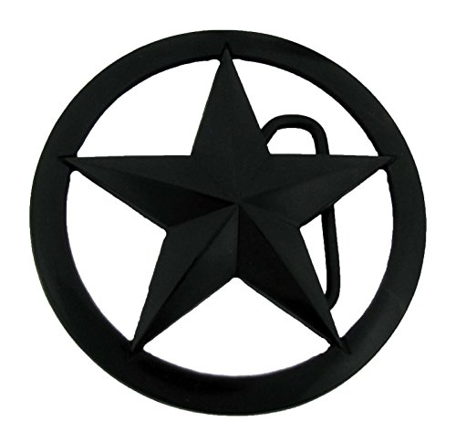 Lone Black Star Belt Buckle State Texas US Sheriff Trooper Law enforcement New from buckleszone
