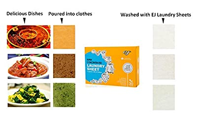 EJ Laundry Detergent Alternate Sheets, Portable Stain Remover For Travel, Fresh Scent Fabric softener, No Spill Like Liquids, 30 Loads