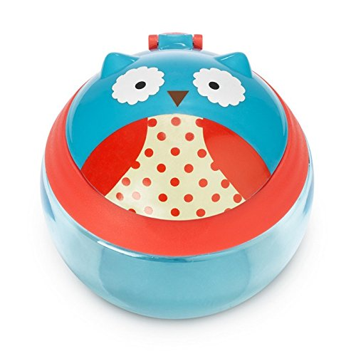 Multi Otis Owl 700 mL Skip Hop Baby Zoo Little Kid and Toddler Snack Cup with Snap Top Lid and No Spill Opening Holds 24 oz