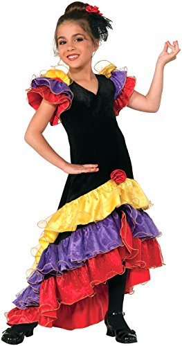 Spanish Dancer Fancy Dress Costume (Forum Novelties Flamenco Dancer Costume, Large)