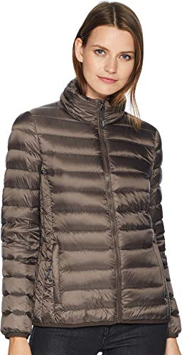 Tumi Women's Clairmont Packable Travel Puffer Jacket Mink (Brown Mink Jacket)