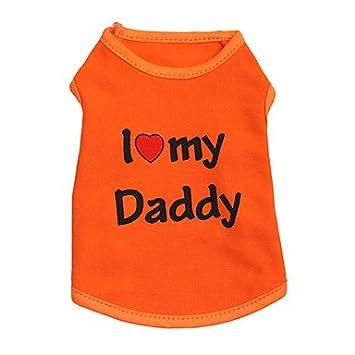 Camisa De Perro Gato/Camiseta Ropa De Perro Disfraz De Algodón Naranja De Dibujos Animados para Mascotas Moda De Mujer De Hombre,L: Amazon.es: Hogar