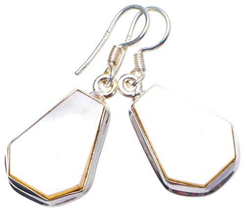 arl Handmade Unique 925 Sterling Silver Earrings 1.25