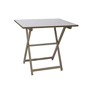 Amueblalo mesa velador plegable mesa auxiliar de madera - Velador plegable ...