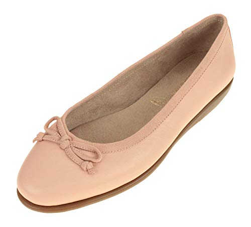 Aerosoles Women's Fast Bet Ballet Flat, Light Pink Leather, 8.5 M US