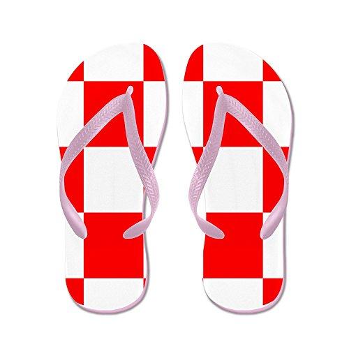 Cafepress Flip Flops Kroatië Wapenschild - Flip Flops, Grappige String Sandalen, Strand Sandalen Roze