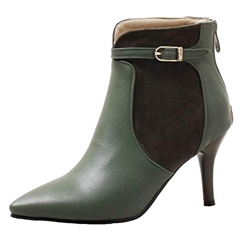 Cocey Women Fashion Ankle Booties Green