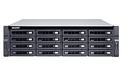 QNAP TVS-1672XU-RP-i3-8G-US 16 Bay Rackmount NAS with Redundant Power Supply and 8th Gen Intel Core i3 Processor. 8GB RAM. Built-in Mellanox ConnectX-4 Lx 10GbE Controller. iSER Supported. from QNAP