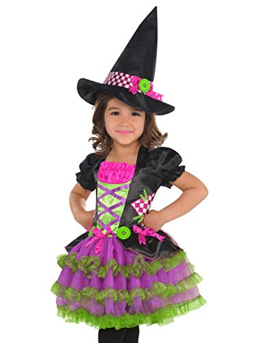 Goodmark Toddler Girls Colorful Neon Stitch Witch Costume