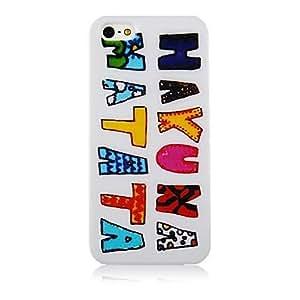 ZXM-Patrón de colores Carta suave de la caja del silicón para iPhone4/4S