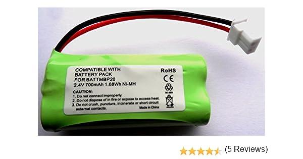 2,4 V Bater/ía de repuesto para sistema de vigilancia del beb/é Motorola-Baby MBP161 MBP161 Timer
