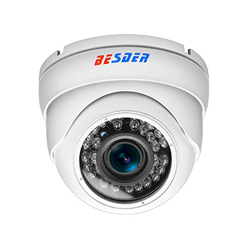 FHD 1080P 4x AUTO Zoom Security Camera 2.8mm-12mm Varifocal Lens Indoor/Outdoor Dome IP Camera Night Vision Camera Motion Detection FTP Photo Onvif Camera Remote Camera by BESDER