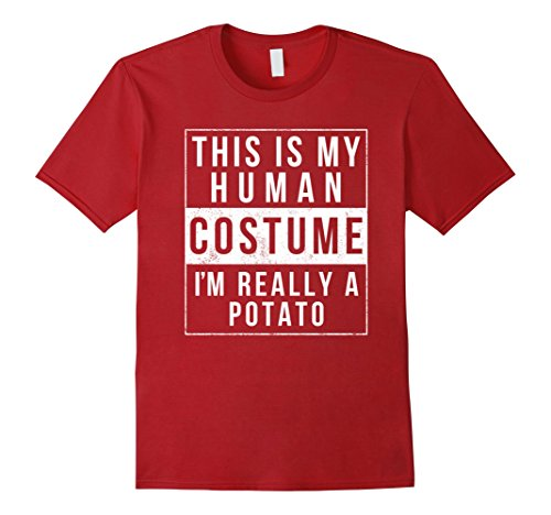 Easy Guy Costumes Halloween (Mens I'm Really A Potato Costume Halloween Shirt Funny Small Cranberry)