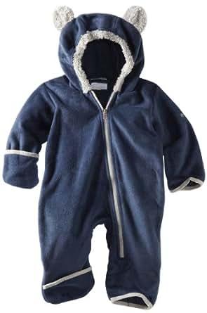 Columbia Unisex-baby Infant Tiny Bear Bunting Bodysuit, Collegiate Navy, 6 Months