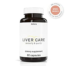 ÉSTORA Liver Purify Care Vegan Supplement (60 Vegetable Capsules)