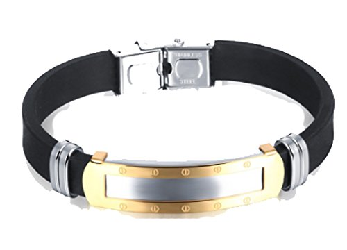 Silver Collection Nike Air (Chariot Trading - Cool Punk Glaze Gold Plated Stainless Steel Mens)