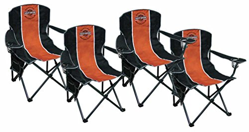 Harley-Davidson Bar & Shield Compact Chair, X-Large Size w/Carry Bag Set of 4