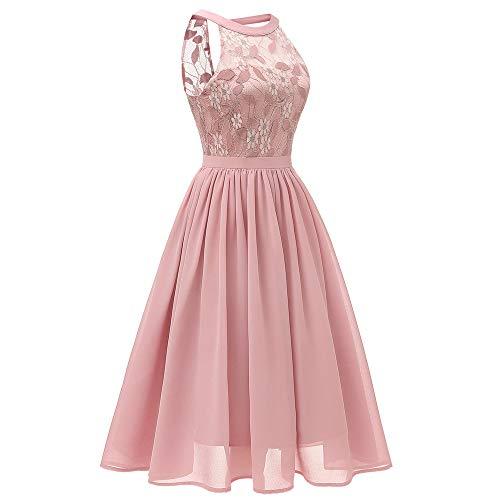 Imprim Manches Princess Bringbring Robes Rose Retro Robe Mini Dentelle Party sans Fleur Femme Chic waqWXpx01