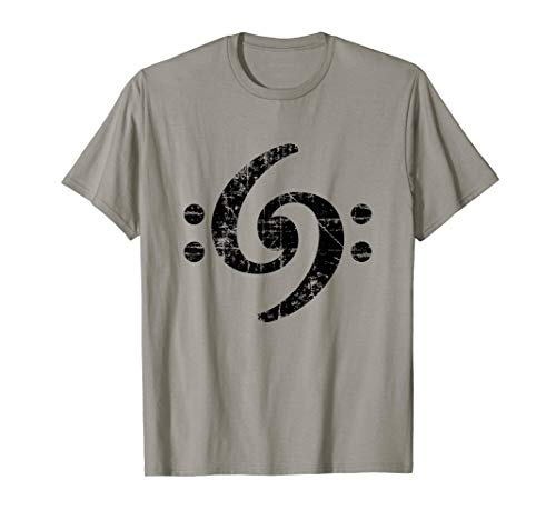 Double Bass Clef (Vintage Black) T-Shirt ()