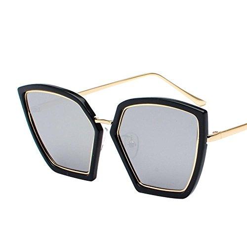 Aoligei Élégance irrégulière lunettes de soleil femme lunettes de soleil rétro visage rond Corée de marée G9hVtDY
