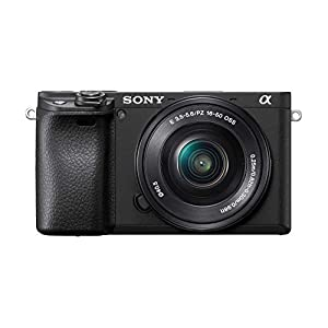 Sony Alpha ILCE-6400L 24.2MP Mirrorless Digital SLR Camera (Black) with 16-50mm Power Zoom Lens (APS-C Sensor, Real-Time Eye Auto Focus, 4K Vlogging Camera, Tiltable LCD) – Black