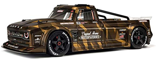 ARRMA Infraction 6S BLX 4WD RC Truck Resto-Mod Street Basher RTR with Spektrum DX2E 2.4GHz AVC Transmitter (Battery and Charger Not Included): ARA109001, Matte Bronze Camouflage