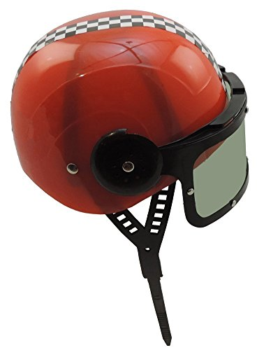 Childrens-Plastic-Racing-Stock-Car-Driver-Costume-Helmet-RED