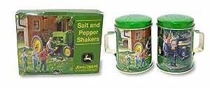 John Deere Tin Salt and Pepper Shaker Set