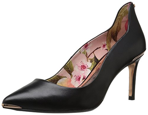 Ted Baker Women's Vyixyn Pump, Black Leather Blossom Print Lining, 9.5 M US (Ted Dress Baker Print)