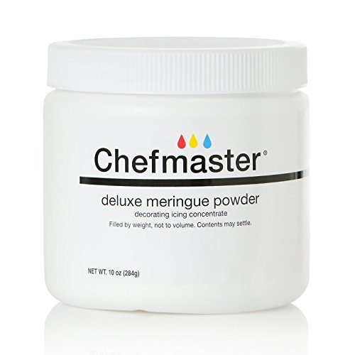 Chefmaster Deluxe Meringue Powder for Baking & Decorating, Kosher Meringue Powder for Buttercream, Royal Icing, Meringue Toppings, Meringue Cookies, and more! 10 oz. Ready to Use Meringue Mix ()