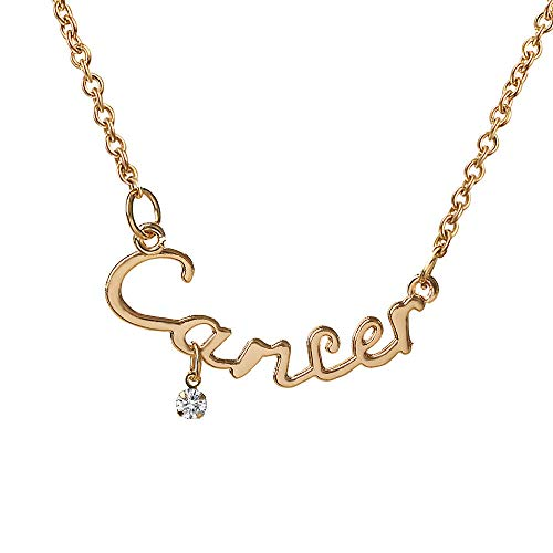 ERAWAN Sexy Charms Zodiac Guardian Star Clavicle Chain Letter Pendant Couple Necklace EW sakcharn (Cancer) 17' Necklace Bracelet Earring