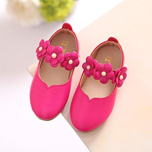bescita Kinder Schuhe Mädchen Mode Blume Kind Schuhe Solide All Casual Schuhe Passen (23, Heiß Rosa)