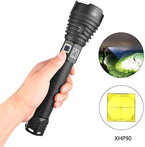 Metermall Lighting XHP90 - Linterna LED (3 modos, alta luminosidad ...
