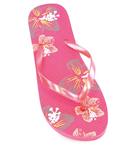 Sandrocks Womens Footwear Flip-Flops Sandals With Flower Print Design