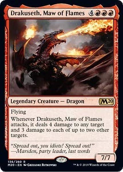 Maw of Flames Core Set 2020 M20 MTG NM Pack Fresh 1x Drakuseth
