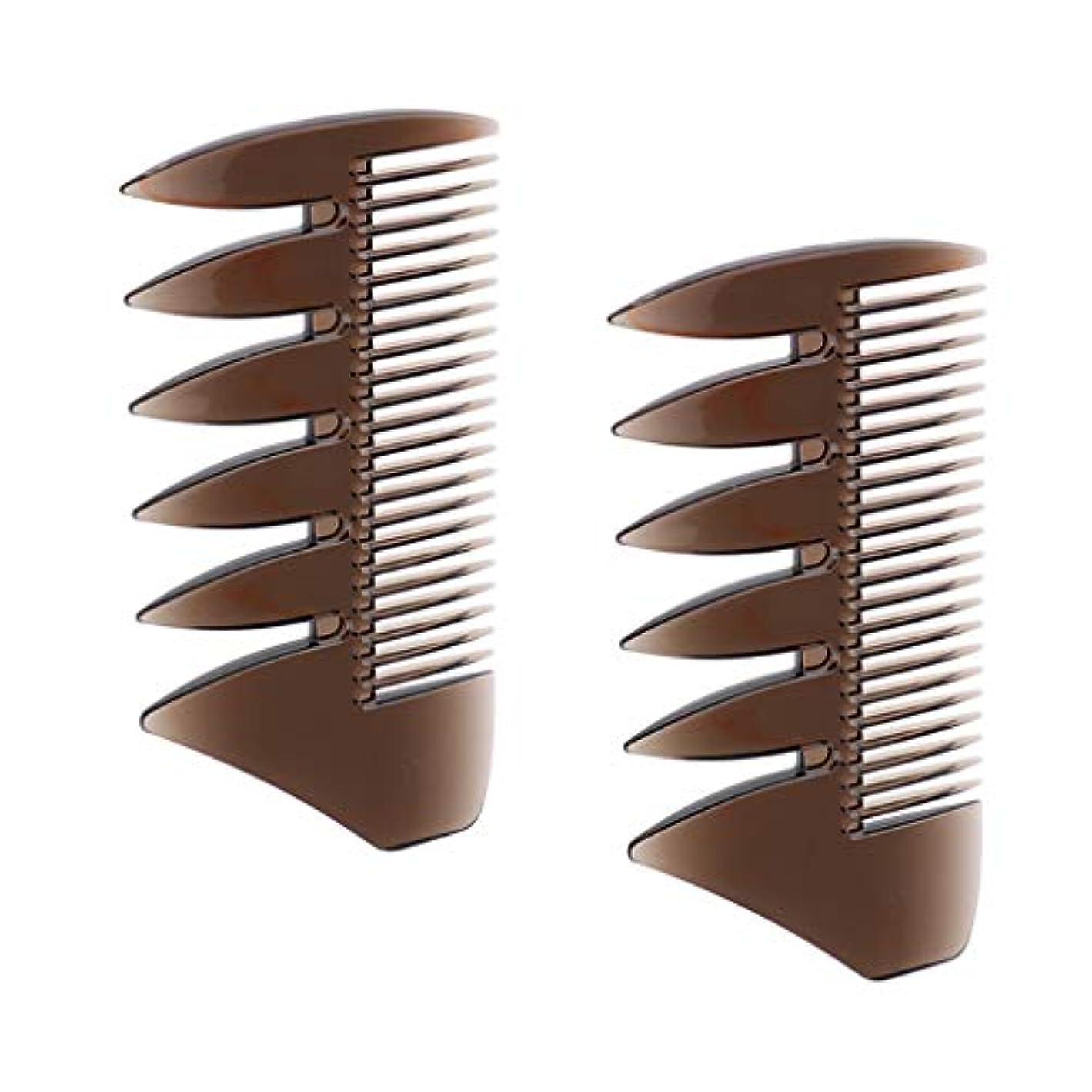 プレゼンテーションコントローラカフェテリアCUTICATE 2個セット ヘアコンビ デュアルサイド メンズ オイルの髪 櫛 ヘアサロン ヘアスタイリング