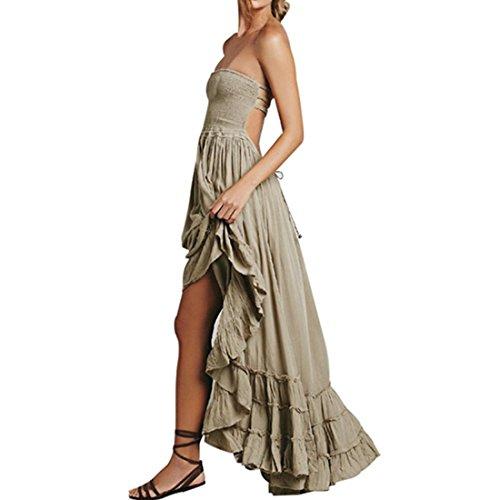 kleid damen Kolylong® Frauen elegantes verband ärmelloses ...
