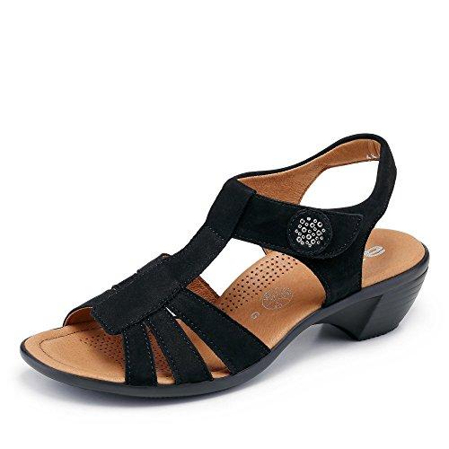 araPrato G Weite - Pantuflas de caña alta Mujer Negro - negro