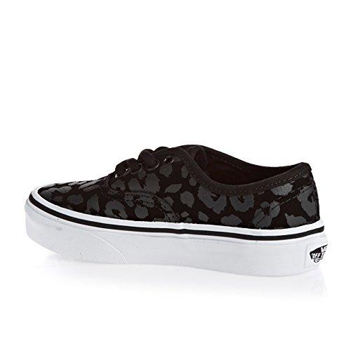 Vans Jeunes Chaussures Authentiques (daim Léopard) Noir
