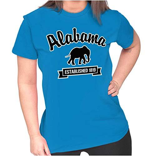 Brisco Brands Alabama Airport Souvenir Gift Established Ladies T Shirt Sapphire