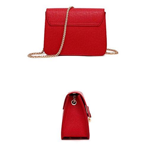 Bag Pequeña La Hombro Messenger Red De Wild Mini Bolso Bolsa Cuadrada Wu Lady Cadena Zhi qzwP6IO