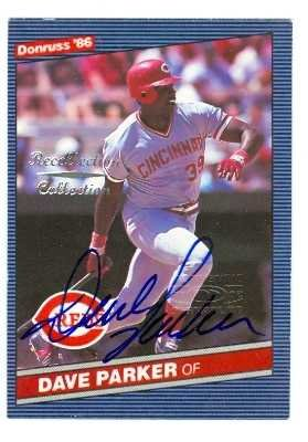 Dave Parker autographed Baseball Card (Cincinnati Reds) 2002 Donruss Recollection Collection #203 Limited Edition numbered 1 of 2 ()