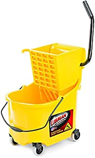 """product image for Libman Commercial 933 26 Quart Mop Bucket and Wringer, 36"""" Length, 16"""" Width, Yellow"""