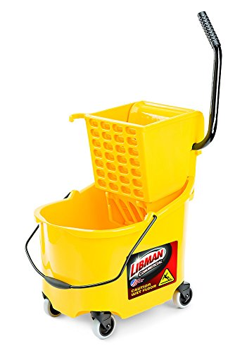 Libman Commercial 933 26 quart Mop Bucket and Wringer, 36'' Length, 16'' Width, Yellow by Libman Commercial