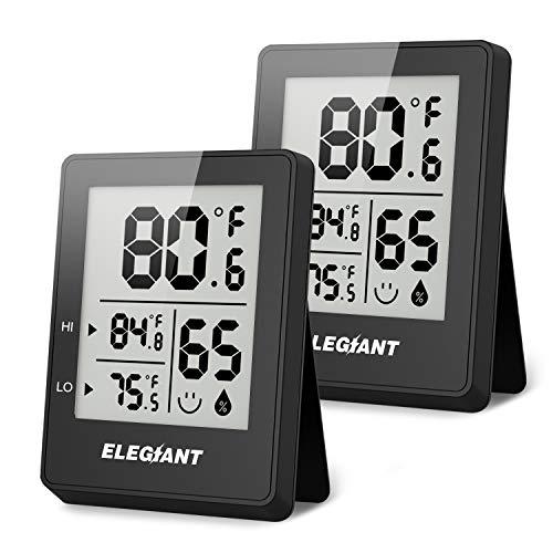 ELEGIANT Digital Hygrometer (2 Pack)