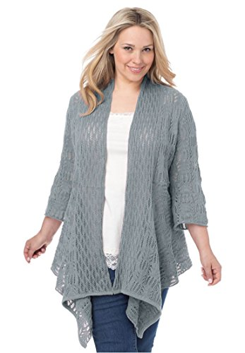 Womens Plus Front Pointelle Cardigan product image